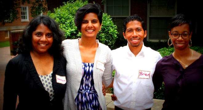 Savitha Sridharan, 2nd Year MBA Candidate 2014 from Olin Graduate School of Business - EDF Climate Corps Fellow at Clark Atlanta University; Sitar Mody, Senior Manager (Strategy) at EDF Climate Corps; Brian Cabezas, International MBA Candidate 2013 from IE Business School - EDF Climate Corps Fellow at South Carolina State University; Chaprece Henry – Program Coordinator at EDF Climate Corps