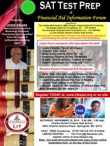 Nov 2014 SAT Prep Workshop (click to download full flyer)